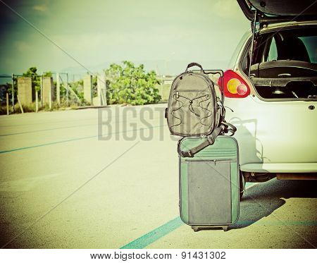 Bags By Car Trunk