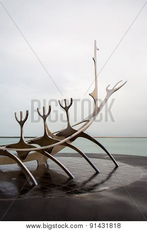 The Sun Voyager In Reykjavik, Iceland