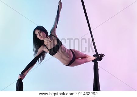 Girl Flies Acrobatic Tissue