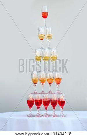 Big Pyramid Of Wineglasses