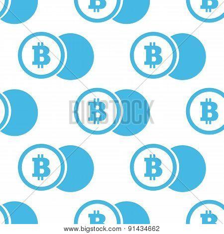 Flat bitcoin coin pattern