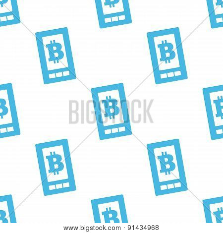 Flat bitcoin on screen pattern