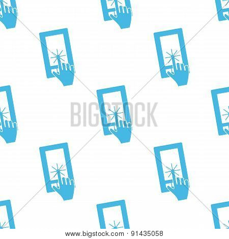 Flat touching screen pattern