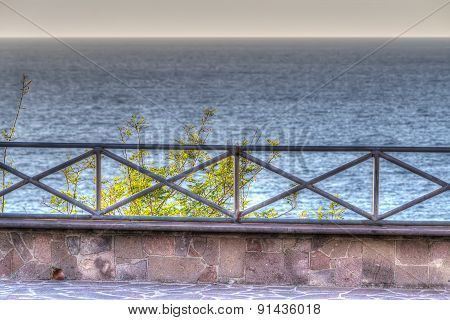 Metal Balustrade By The Shore