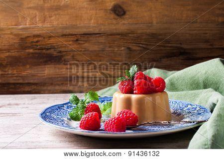 Italian dessert coffee panna cotta