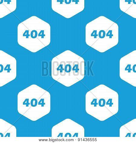 Error 404 hexagon pattern