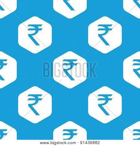 Indian rupee hexagon pattern
