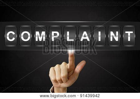 Business Hand Clicking Complaint On Flipboard