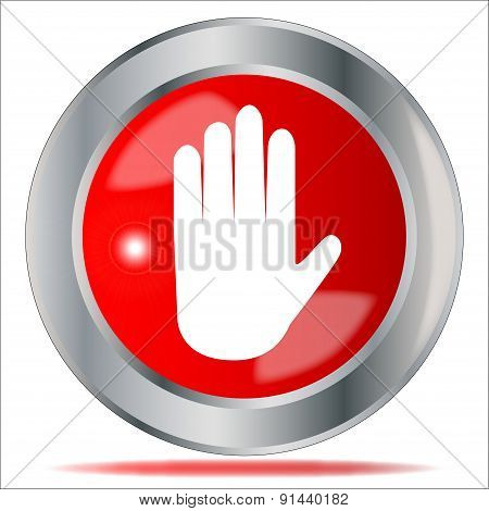 Stop Hand Button