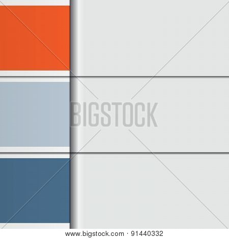 Illustration Template, From Horizontal Strips With Text Areas For Three Options