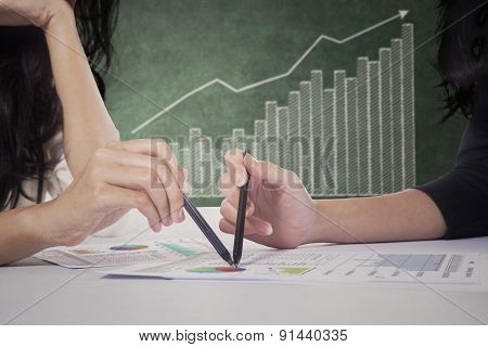 Entrepreneur Hands And Profit Graph