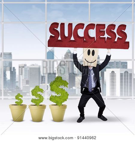 Successful Entrepreneur With Money Tree