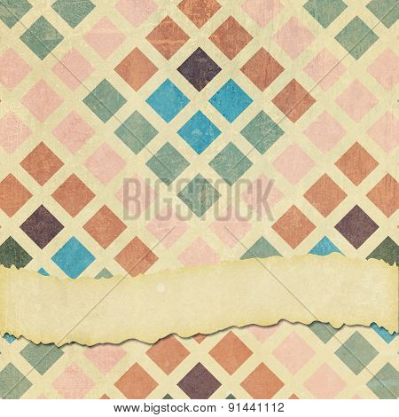 Faded And Worn Square Cubes Background