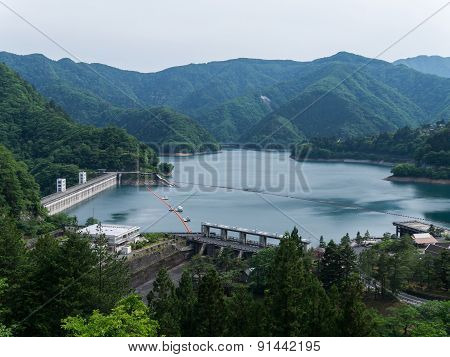 Lake Okutama In Tokyo, Japan