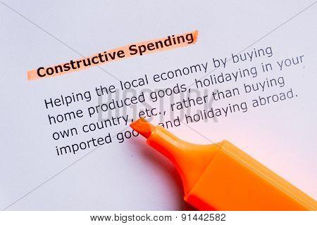 Constructive Spending