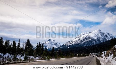 Coquihalla Highway near the Summit in British Columbia