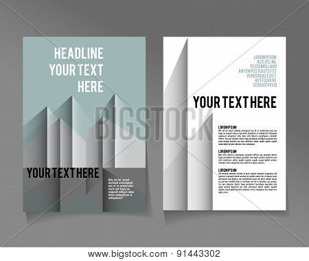 flyer brochure design template abstract