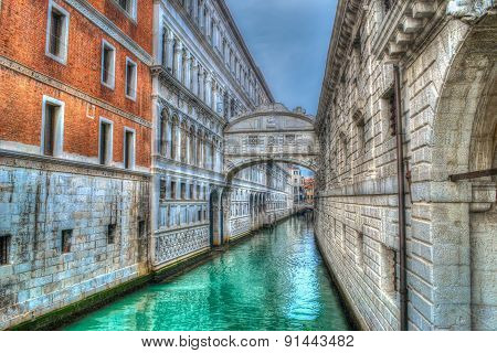 Bridge Of Sighs In Venice In Hdr