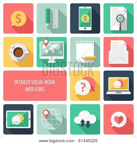 Detailed business web icons