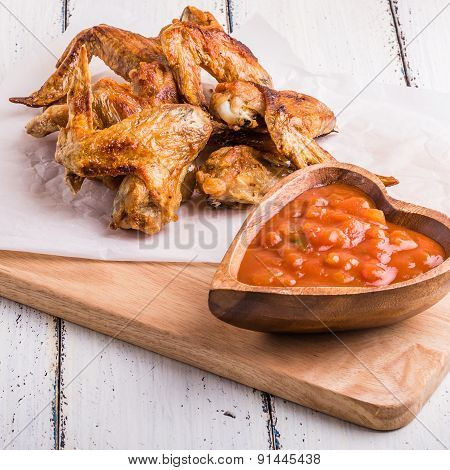 Bbq Chicken Wings With Sauce