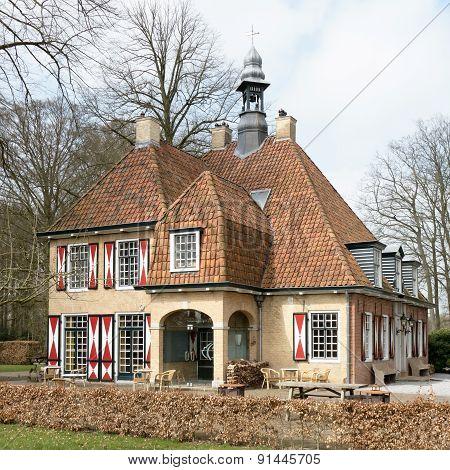 Netherlands - Bakkeveen - Circa April 2015: Restaurant De Slotplaats.