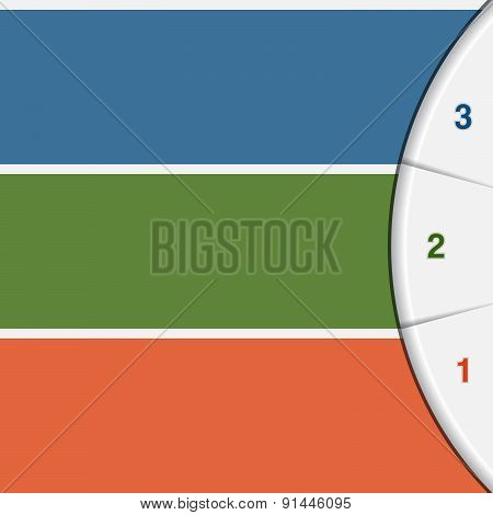 3 Colour Strips And Semicircle