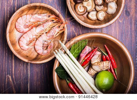 Set For Making Soup Tom Yam
