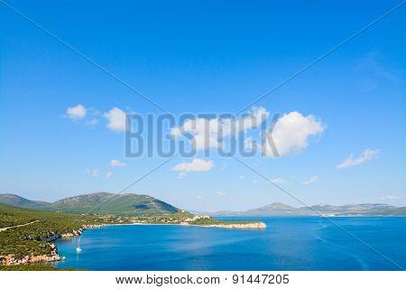 Capo Caccia Coast On A Clear Day