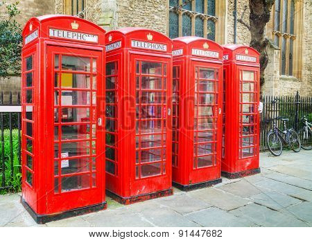 Famous Red Telephone Booths In London