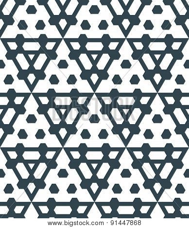 Dark Monochrome Color Triangle Abstract Geometric Seamless Pattern.