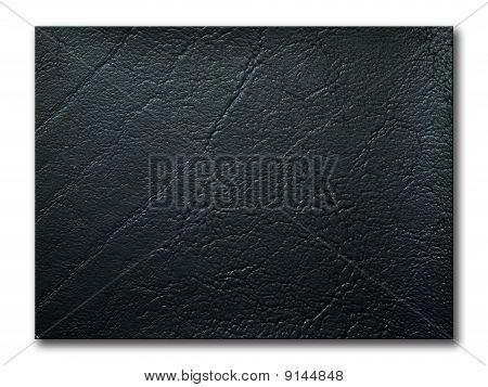 Texture Of Black Leatherette Sample
