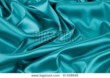 Light blue silk texture cloth texture.