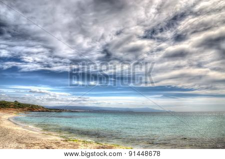 Le Bombarde Beach Foreshore On A Cloudy Day In Hdr