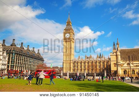 Parliament Square In City Of Westminster