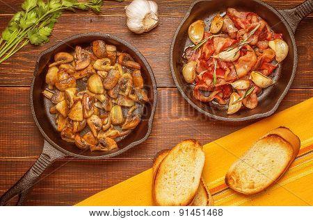 With Bacon, Garlic, Rosemary