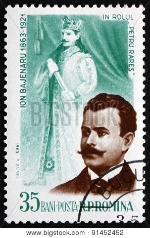 Postage Stamp Romania 1964 Ion Bajenaru, Operatic Tenor