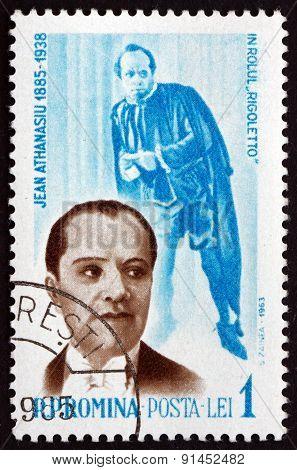 Postage Stamp Romania 1964 Jean Athanasiu, Operatic Baritone