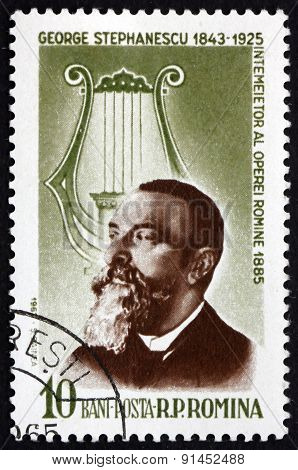 Postage Stamp Romania 1964 George Stephanescu, Composer