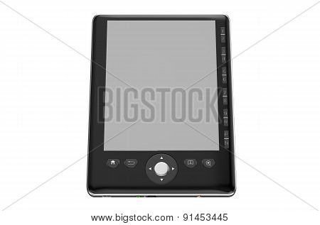 Black E- Reader With Empty Screen