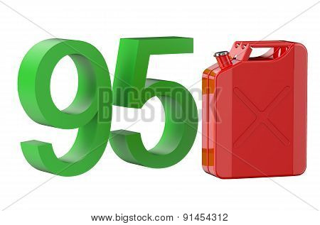 Steel Red Jerrycan With 95 Gasoline