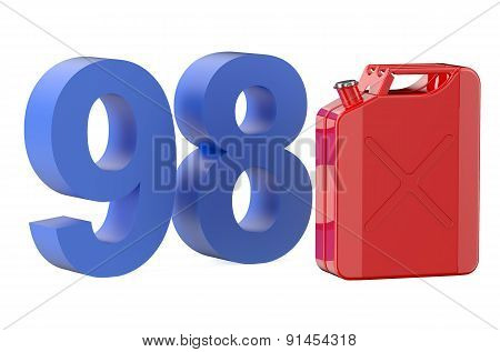 Steel Red Jerrycan With 98 Gasoline