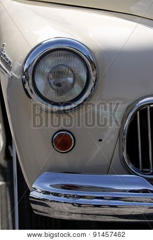 Old Retro Or Vintage Car Or Automobile