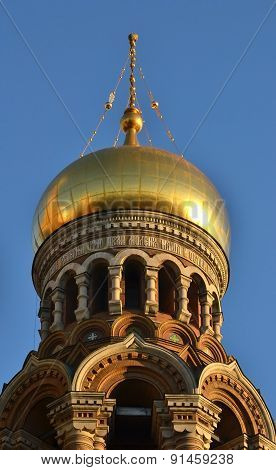 Dome Of Church Of The Savior On Spilled Blood.