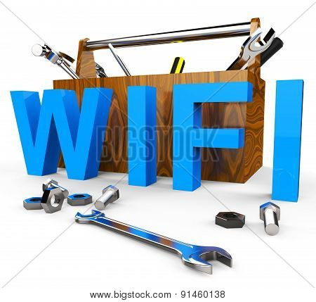 Wifi Tools Shows World Wide Web And Access