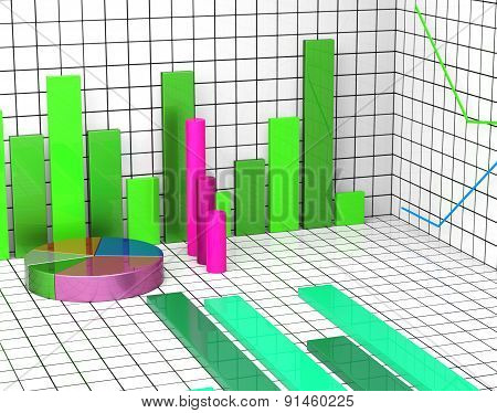 Graph Report Means Trend Financial And Profit
