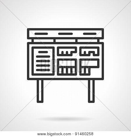 Ads board black line vector icon
