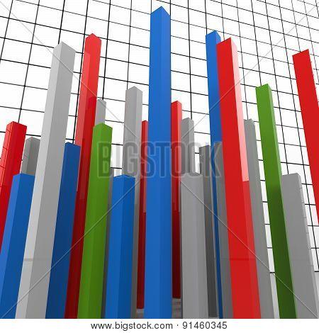Graph Report Represents Finance Graphic And Diagram