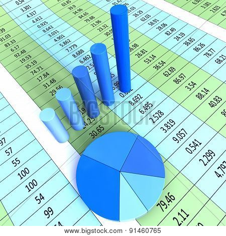 Report Graph Shows Financial Profit And Information
