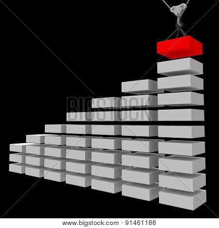 Increase Graph Construction Indicates Infochart Profit And Property