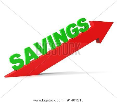 Increase Savings Shows Upward Improve And Improvement